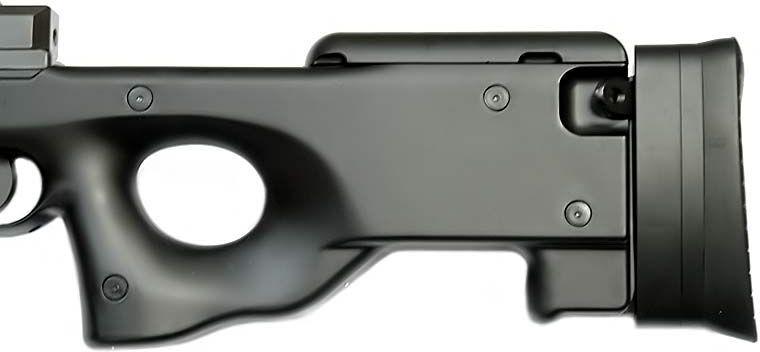 WELL manuálna sniperka Warrior I - čierna (MB01)