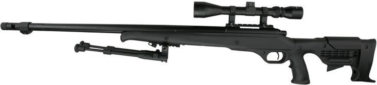 WELL manuálna sniperka MB11 s puškohľadom a nožičkami