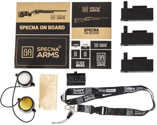 Airsoft SA Sniper Rifle CORE RIS /w scope & bipod, black, SA-S02