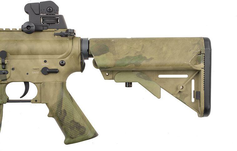 SA M4A1 RIS CQB SAEC Half Tan /w crane stock, SA-B02