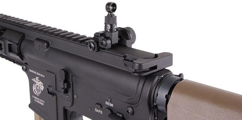 SA M4A1 RIS Half Tan /w crane stock, SA-B03-HT