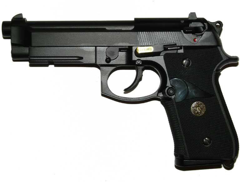 WE GBB Beretta M9 A1 Marines - čierna