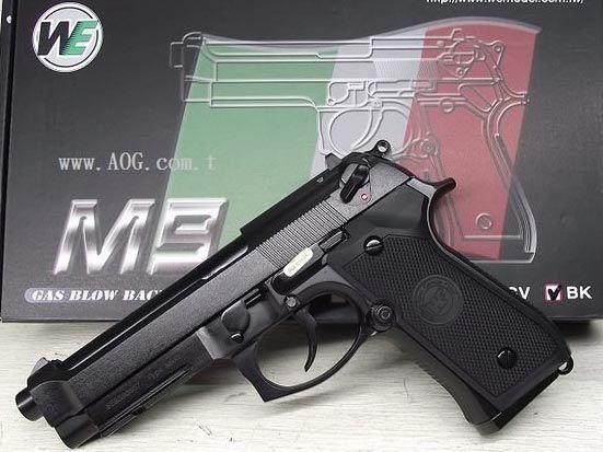 WE GBB Beretta M9 A1 - čierna