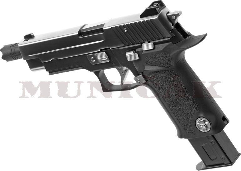 WE GBB P226 Virus Full Metal - čierna
