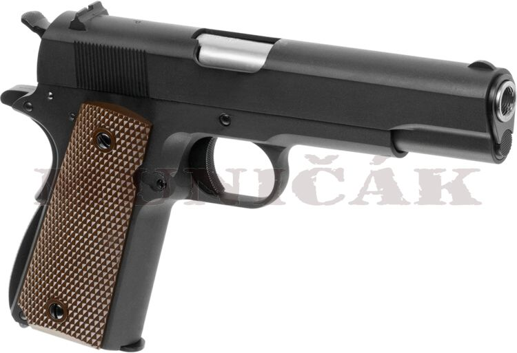 WE GBB M1911 Full Metal V3 - čierna