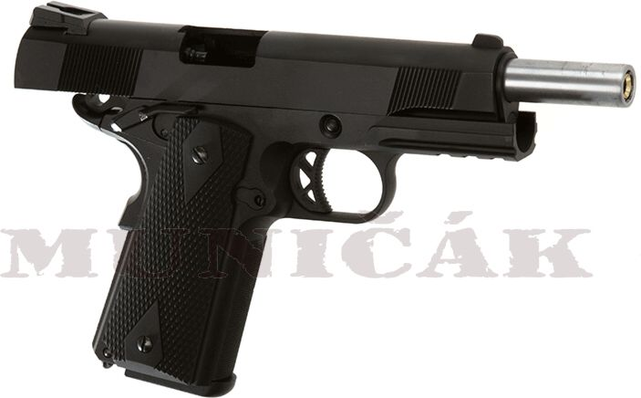 WE GBB M1911 Tactical Full Metal V3 - čierna