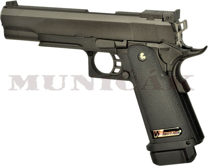 WE GBB Hi-Capa 5.1 Full Metal - čierna