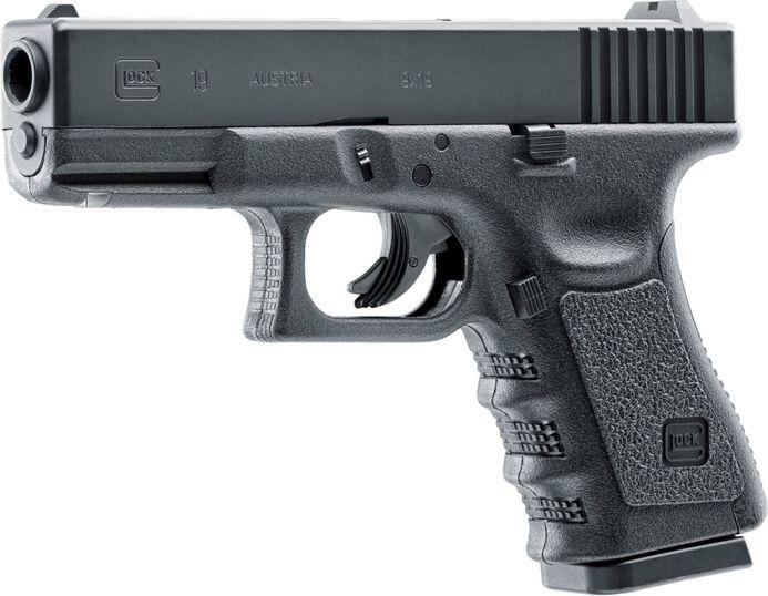 GLOCK 19 NBB, kal. 6mm, CO2, čierna