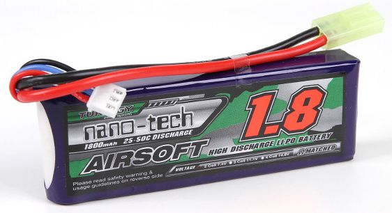 Turnigy LiPo batéria 7,4V 1800mah 2S 25-50C (1pack)