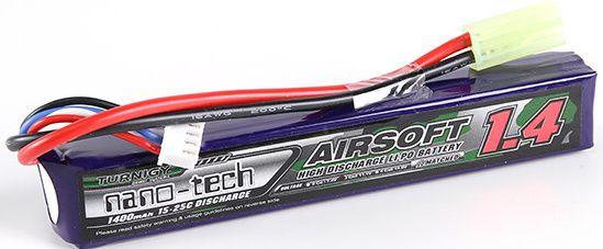 Turnigy LiPo batéria 7,4V 1400mah 2S 15-25C (1pack)
