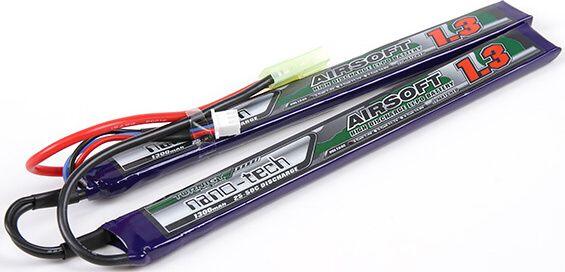 Turnigy LiPo batéria 7,4V 1300mah 2S 25-50C (2pack)