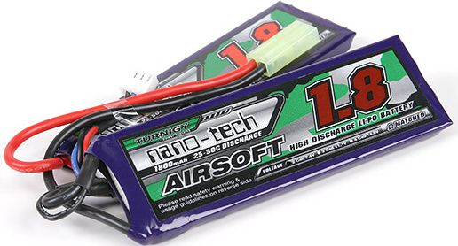 Turnigy LiPo batéria 7,4V 1800mah 2S 25-50C (2pack)