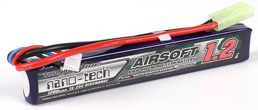 Turnigy LiPo batéria 7,4V 1200mah 2S 15-25C (1pack)