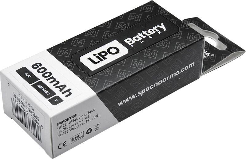 SPECNA ARMS LiPo batéria 11,1V 600mAh 3S 20/40C (PDW)(1pack)