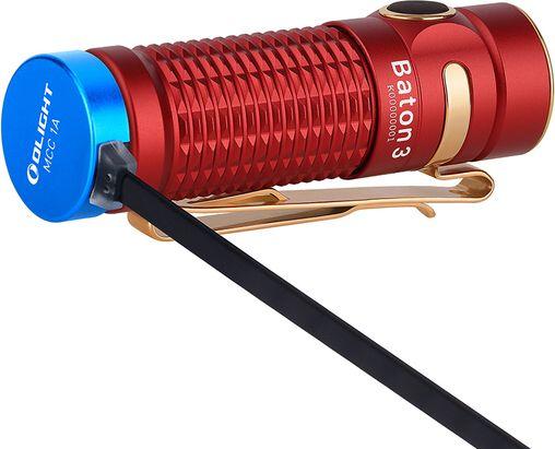 OLIGHT Svietidlo Baton 3 1200 lm limitovaná edícia - červené (OL648)