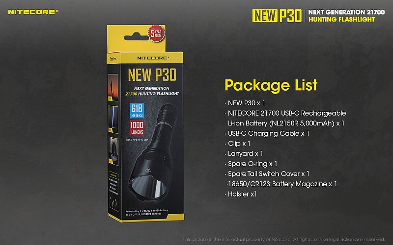 NITECORE Svietidlo P30 NEW (NC-P30NEW)