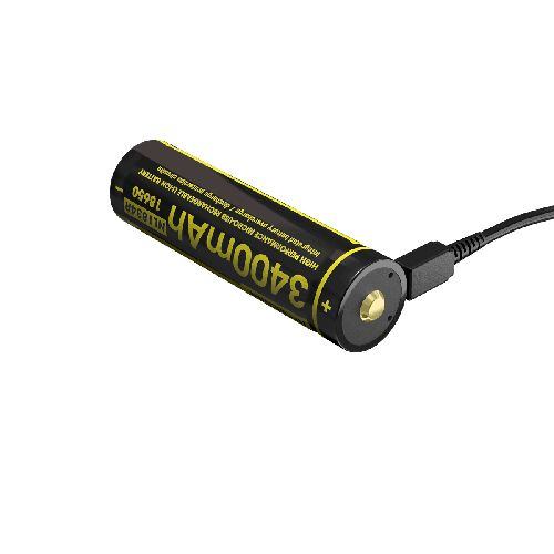 Nitecore Li-Ion akumulátor 3400 mAh - micro USB nabíjateľný (NL1834R)