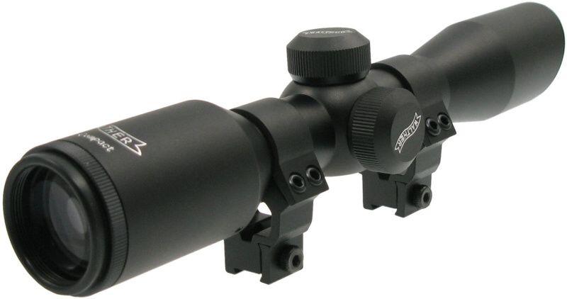 Puškohľad Walther 4x32 Compact, zvýšená montáž
