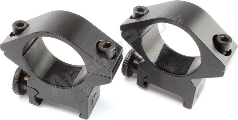 ASG Montážne krúžky nízke 25 mm - čierne v.4