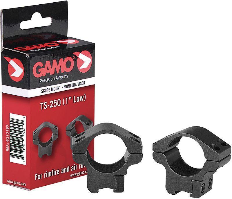 "GAMO Montážne krúžky 25mm TS-250 1"", Low"
