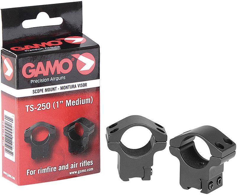 """GAMO Montážne krúžky 25mm TS-250 1"""", Medium"""
