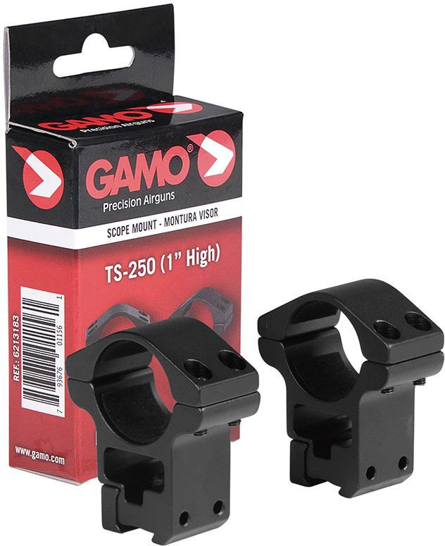 "GAMO Montážne krúžky 25mm TS-250 1"", High"