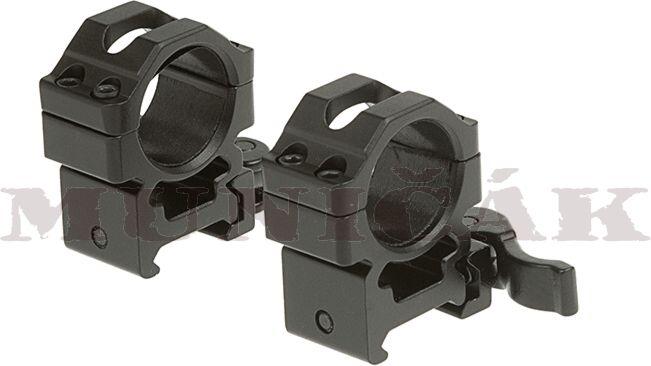LEAPERS 25,4mm Montážne krúžky Medium