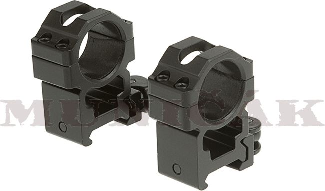 LEAPERS 25,4mm Montážne krúžky High