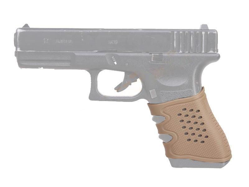 BigDragon Protišmykový gumený návlek na pištole Glock - pieskový