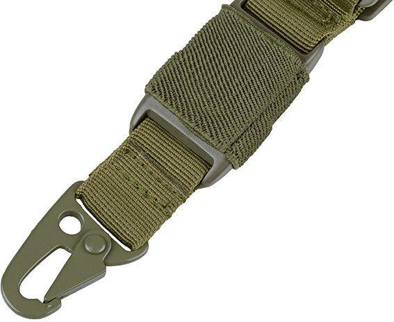 GFC Jednobodový taktický popruh Bunjee, SLI-201 olivový