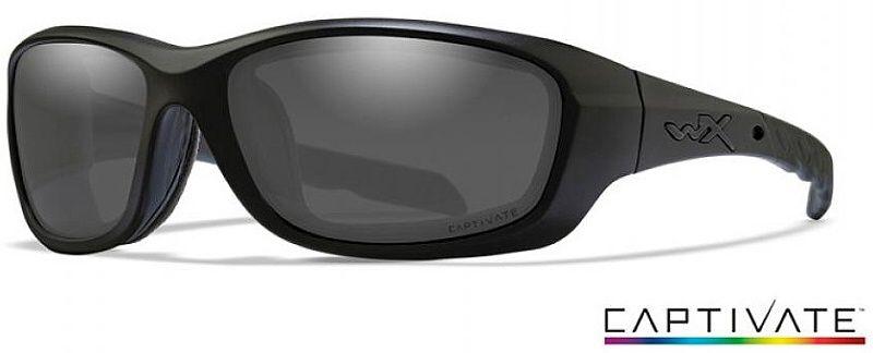 WILEY X Ochranné okuliare GRAVITY Captivate - polarizované dymové sklá / matný čierny rám