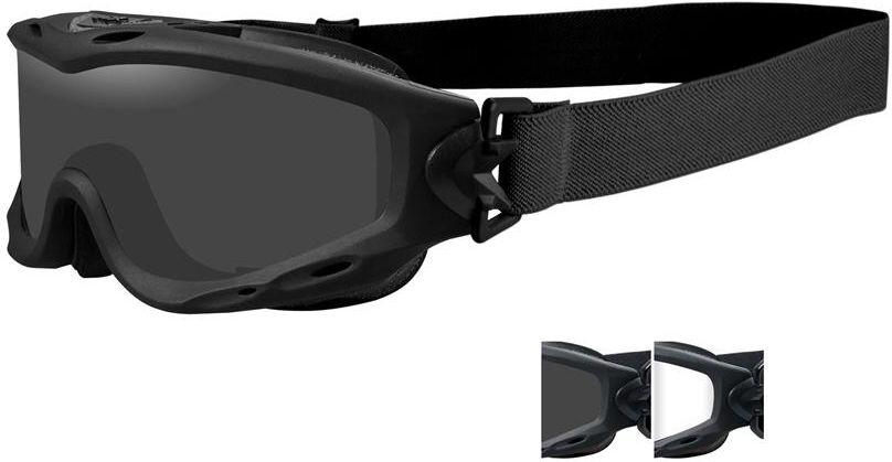 Wiley X Okuliare SPEAR - dymové + číre sklá / matný čierny rám (SP29B)
