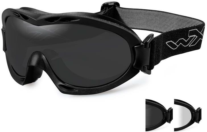 Wiley X Okuliare NERVE - dymové + číre sklá / matný čierny rám (R-8051)