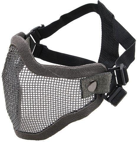 ULTIMATE TACTICAL Sieťovaná maska Stalker - šedá