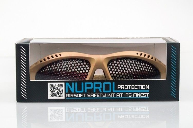 WE sieťované okuliare Nuprol PRO, malé, tan