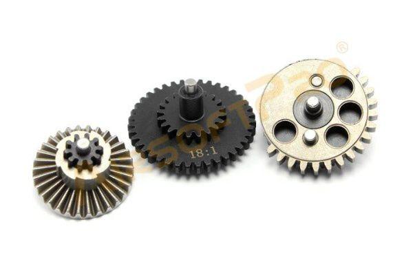 AirsoftPro Set záťažových CNC kolies 18:1 - priame ozubenie