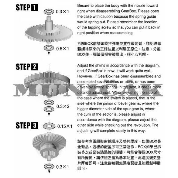 Guarder Oceľový set prevodov pre Ver. 7, GE-02-04