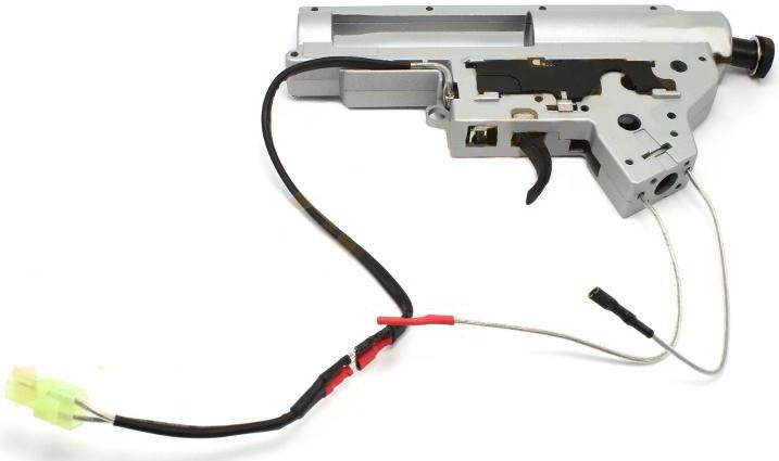 Shooter Zosilnený QD mechabox v.2 + tŕň a mikrospínač - kabeláž do predu