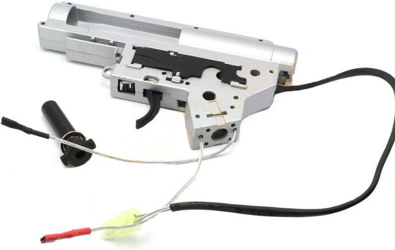 Shooter Zosilnený QD mechabox v.2 + tŕň a mikrospínač - kabeláž do zadu