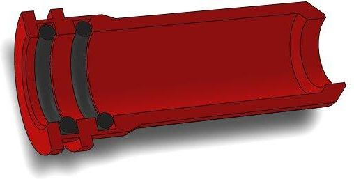 AirsoftPro CNC Hliníková tryska s dvojitým tesnením pre AK - 20,8 mm