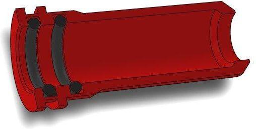 AirsoftPro CNC Hliníková tryska s dvojitým tesnením pre MP5 - 20,35 mm