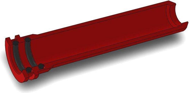 AirsoftPro CNC Hliníková tryska s dvojitým tesnením pre A&K Masada - 35 mm