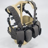 Chest Rig DIRECT ACTION Hurricane® Hybrid Chest Rig - Cordura® - Čierny (CR-HRCN-CD5-BLK)