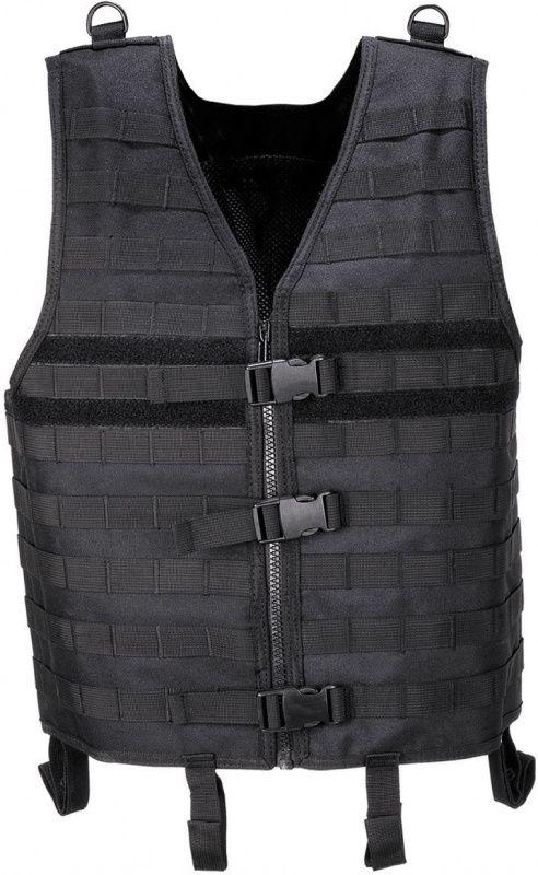 Taktická vesta Molle Light, čierna, 04613A
