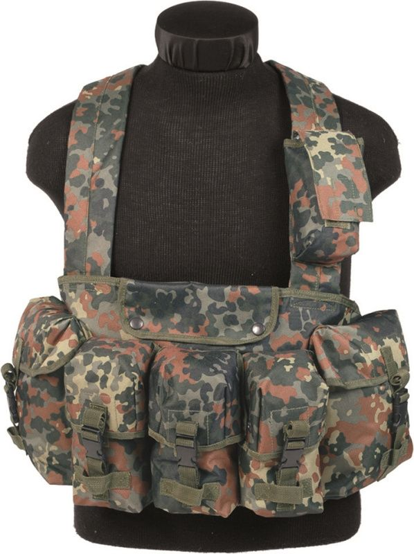 US Taktická vesta náprsná CHEST RIGG, flecktarn