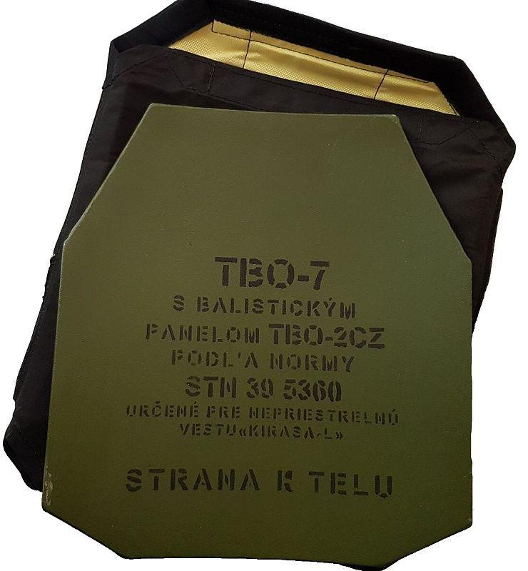 Balistický plát predný TBO7 s kapsou KIRASA-L