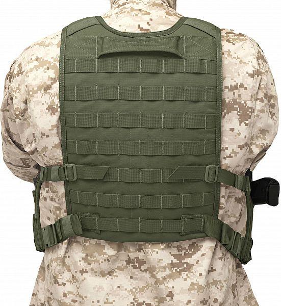Warrior Elite Ops Back Panel Olive Drab (W-EO-BP-OD)