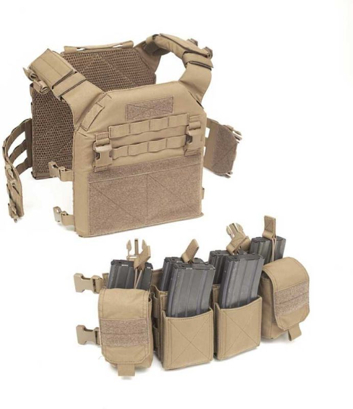 Warrior Recon Plate Carrier SAPI Coyote Tan (W-EO-RPC-CT)