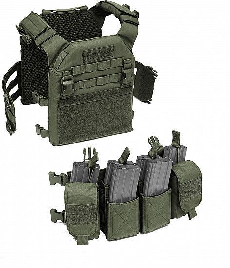 Warrior Recon Plate Carrier Size SAPI Olive Drab (W-EO-RPC-L-OD)