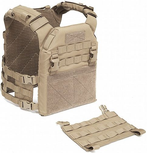 Warrior Elite Ops Recon Plate Carrier with Pathfinder Chest Rig Coyote Tan (W-EO-RPC-MK1-L-CT)